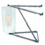 MIRROR ARM ASSEMBLY, WEST COAST, STAINLESS STEEL, (MIRROR NOT INCLUDED)