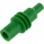 Delphi 12010300 OEM Terminal Green Silicone Cavity Plug 100 Pack Angle