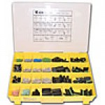 ASSORTMENT OEM TERMINALS 1140PC, 24 COMPARTMENT PLASTIC CASE
