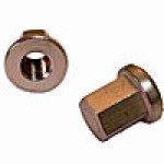 """BATTERY NUTS, STAINLESS STEEL, HOLD DOWN, CLOSED CAP, 3/8"""", 10PK"""