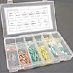 HEAT SHRINK TERMINAL ASSORTMENT KIT - CRIMP/SHRINK TERMINAL KIT 115PC IN PLASTIC CASE