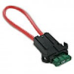 "IN-LINE/PANEL MOUNT STANDARD BLADE TYPE FUSEHOLDER,10GA, 8"" WIRE LENGTH, 30AMP FUSE SUPPLIED"