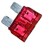 10AMP RED 'ATO/ATC STYLE' STANDARD BLADE FUSE 100PK