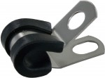 "Rubber Insulated Steel Clamps 1/4""ID 100 Pack"