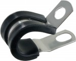 "Rubber Insulated Steel Clamps 1/2""ID 100 Pack"