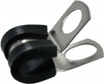 "Bulk Rubber Insulated Steel Clamps 1/4""ID"