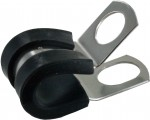 "Bulk Rubber Insulated Steel Clamps 3/8""ID .404"" Mounting Hole"