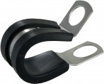 "Bulk Rubber Insulated Steel Clamps 5/8""ID .404"" Mounting Hole"