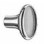"KNOB, CHROME-PLATED, SOLID BRASS, FACE DIAMETER 7/8"" 10-32 THREAD"