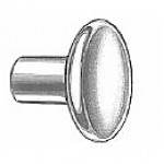 "KNOB, CHROME-PLATED, SOLID BRASS, FACE DIAMETER 3/4"" 10-32 THREAD"