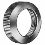 "FACENUT, CHROME-PLATED BRASS, ROUND KNURL 3/4"" DIAMETER, 1/4"" THICKNESS, 5/8-32 THREAD"