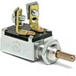 """SPST, NORMALLY ON, 10A@12VDC,  2 SCREWS, 7/16""""-20 THREAD MOUNTING STEM, 1/2"""" PLUNGER"""