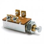 """DPST, NORMALLY ON, 10A@12VDC, 4 SCREWS,  7/16""""-20 THREAD, MOUNTING STEM 7/8"""""""