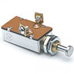 """SCHOOL BUS SWITCH, 3POSITION, 10A@12VDC, 2 SCREWS, PLUNGER 7/32"""" LONG, 7/16- 20 THREAD MOUNTING STEM"""