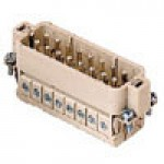 MALE INSERT - SCREW TERMINAL  16P+Ground  10A MAX - 600V  (No. 17-32) (YCDAM16N)