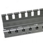 """A40100C is 1.5""""x 4"""" wire duct gray 6'6""""pc with cover"""