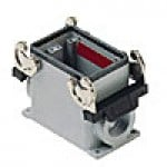 SURFACE MOUNTING BASE - 10P+Ground, 10A MAX - 600V, DOUBLE LEVERS, SINGLE PORT, CABLE GLAND NPT 1/2""