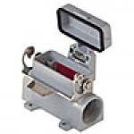 """SURFACE MOUNTING BASE - 10P+Ground, 10A MAX - 600V, SINGLE LEVER, DOUBLE PORT, CABLE GLAND NPT 3/4""""x2"""