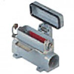 "SURFACE MOUNTING BASE - 16P+Ground, 10A MAX - 600V, SINGLE LEVER & COVER, DOUBLE PORT, HIGH CONSTRUCTION, CABLE GLAND NPT 3/4""x2"