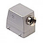 HOOD - 32P+Ground  10A MAX - 600V  FOUR PEGS  SIDE ENTRY  HIGH CONSTRUCTION  CABLE GLAND PG 29 (CAO50.29)