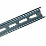 "DIN RAIL, STEEL 35x15MM SLOTTED, 6.6"" (2 METER) LENGTH"