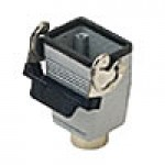 "HOOD - 6P+Ground  16A - 600V  SINGLE LEVER  TOP ENTRY  CABLE COUPLER  NPT 1/2"" (ILME CHV06LG)"