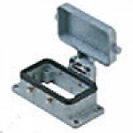 PANEL MOUNTING BASE - 10P+Ground  16A MAX - 600V  FOUR PEGS AND COVER (ILME CHI10CS)