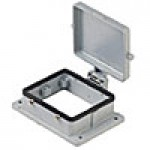 PANEL MOUNTING BASE - 32P+Ground  16A MAX - 600V  FOUR PEGS AND COVER (ILME CHI32CS)
