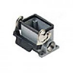 SURFACE MOUNTING BASE - 6P+Ground  16A - 600V  SINGLE LEVER  DOUBLE PORT  CABLE GLAND PG 16x2 (ILME CHP06L2)