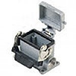 SURFACE MOUNTING BASE - 6P+Ground  16A - 600V  SINGLE LEVER AND COVER  SINGLE PORT  CABLE GLAND NPT 1/2""