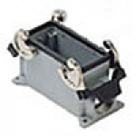 SURFACE MOUNTING BASE - 16P+Ground  16A MAX - 600V  DOUBLE LEVERS  DOUBLE PORT  CABLE GLAND PG 21x2 (ILME CHP16.2)