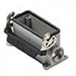 SURFACE MOUNTING BASE - 16P+Ground  16A MAX - 600V  SINGLE LEVER  DOUBLE PORT  CABLE GLAND PG 21x2 (ILME CAP16LS2)