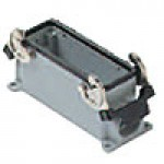 SURFACE MOUNTING BASE - 24P+Ground  16A MAX - 600V  DOUBLE LEVERS  SINGLE PORT  CABLE GLAND PG 21 (ILME CHP24)