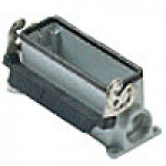 SURFACE MOUNTING BASE - 24P+Ground  16A MAX - 600V  SINGLE LEVER  DOUBLE PORT  CABLE GLAND PG 21x2 (ILME CHP24L2)
