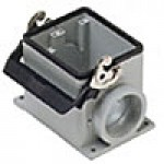 SURFACE MOUNTING BASE - 32P+Ground  16A MAX - 600V  SINGLE LEVER  DOUBLE PORT  CABLE GLAND PG 36x2 (ILME CHP32L2)