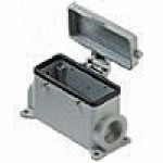 SURFACE MOUNTING BASE - 16P+Ground  16A MAX - 600V  FOUR PEGS & COVER  SINGLE PORT  HIGH CONSTRUCTION  PG 29 (ILME CAP16CS29)