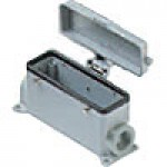 SURFACE MOUNTING BASE - 24P+Ground  16A MAX - 600V  FOUR PEGS & COVER  DOUBLE PORT  HIGH CONSTRUCTION  PG 29