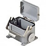 SURFACE MOUNTING BASE - 48P+Ground  16A MAX - 600V  SINGLE LEVER & COVER  DOUBLE PORT  CABLE GLAND PG 36x2 (ILME CHP48LS)