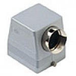 "HOOD - 32P+Ground  16A MAX - 600V  TWO PEGS  SIDE ENTRY  CABLE GLAND NPT 1/2"" (ILME CHOT32.6L)"