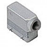 HOOD - 16P+Ground  16A MAX - 600V  FOUR PEGS  SIDE ENTRY  HIGH CONSTRUCTION  CABLE GLAND NPT 3/4""