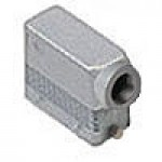 "HOOD - 16P+Ground  16A MAX - 600V  TWO PEGS  SIDE ENTRY  HIGH CONSTRUCTION  CABLE GLAND NPT 1"" (ILME CAOT16.6L)"