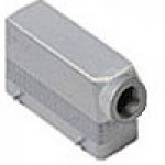 """HOOD - 24P+Ground  16A MAX - 600V  FOUR PEGS  SIDE ENTRY  HIGH CONSTRUCTION  CABLE GLAND NPT 1.25"""""""