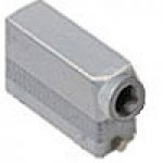 """HOOD - 24P+Ground  16A MAX - 600V  TWO PEGS  SIDE ENTRY  HIGH CONSTRUCTION  CABLE GLAND NPT 1"""" (ILME CAOT24.6L)"""