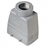 HOOD - 10P+Ground  16A MAX - 600V  FOUR PEGS  TOP ENTRY  HIGH CONSTRUCTION  CABLE GLAND NPT 1.25""