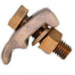 BRONZE GROUND CLAMP CONNECTOR 4Sol-2/0Str