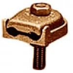 BRONZE GROUND CLAMP CONNECTOR 3Str-2/0Str