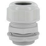 "DOME CAP CABLE GLAND Pg11  .19-.39""  GRAY COMPLETE WITH O-RING & LOCKNUT"