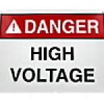 "PLASTIC SAFETY SIGN ""DANGER - HIGH VOLTAGE KEEP OUT"" (10""x14"")"