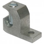 ALUMINUM LAY-IN LUG, TIN PLATED, 14-1/0, STEEL SLOT SCREW