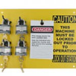 "19""x24"" STATION, 20 BLUE BUMBER PADLOCKS, 50 ""DO NOT OPERATE TAGS"", 6 ONE INCH SAFETY LOCK-OUTS"""
